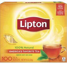 Lipton American's Favorite Tea 100 Bags 100% Natural Net. 8 oz~US Seller