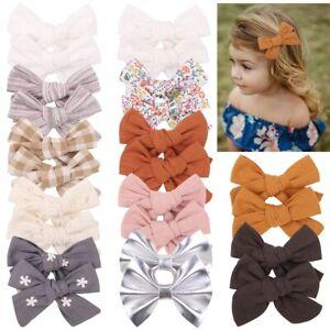 4Pc Baby Hair Clips Girls Flower Bows Kids Children Hair Clips Toddler Barrettes