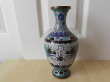 More details for chinese republic period cloisonne vase with dragons - lao tian li? 19th 20th c