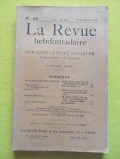La Revue Hebdomadaire 1911 n° 49 Armand Praviel dialectes locaux dans les écoles