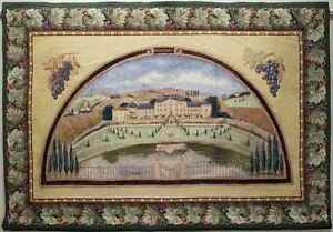 """TAPESTRY, 54x38 """"Burgundy Winery"""" -Free Shipping"""