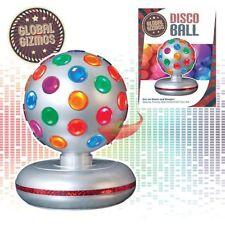 "New 6"" Rotating Disco Ball DJ Christmas Party Stage Club Disco Xmas Light Silver"