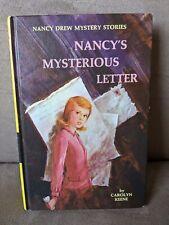 NANCY'S MYSTERIOUS LETTER Nancy Drew, Book 8 - Vintage Hardcover Keene 1970s