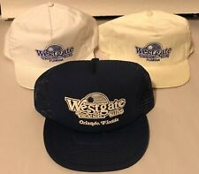 Vintage Lot of 3 Westgate Florida Vacation Villas USA Made Snapback Hats Caps