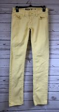 ROXY Yellow Low Rise Gold Coast Skinny Fit Slim Leg Jeans Size 1 Juniors