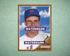 Ray Daviault New York Mets 1962 Style Custom Baseball Art Card
