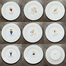 Set of 8 Pottery Barn Reindeer Christmas Dinner Plates  *UGC*