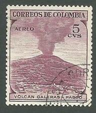 Colombia Scott# C239, Galeras Volcano, 5c, Used, 1954