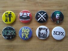 "8 1"" NOFX pinback badges buttons"