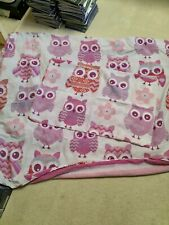 OWL DESIGN SINGLE DUVET COVER AND PILLOWCASE SET Good Condition