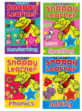 Snappy Learner 4 Educational Learning Books 5-7yo Maths Spelling Writing Phonics