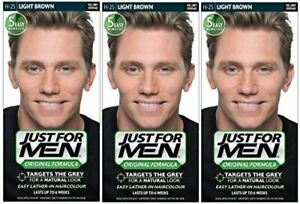 Just 4 Men H25 Hair Colouring Only for Grey Hair - Light Brown