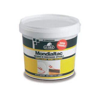 Pegamento Adhesivo Especial a Efecto Ventosa Mondialtac GUBRA Kg.1 Madera, Metal