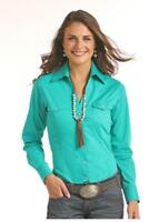 Panhandle Slim Women's Snap Up Western Shirt in Purple or Turquoise 22S6529