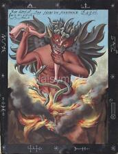 Démon diable ogre monster prince of darkness cannibal 1766 7x5 pouces réimpression imprimer