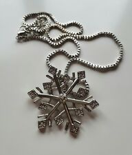 Snowflake Pendant Necklace Charm Frozen Anna Elsa Once Upon A Time