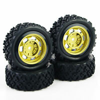 RC 4Pcs Rally Tires&Wheel Rim 6mm offest For HSP HPI 1/10 Off Road Model Car