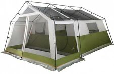 8-Person Large Family Cabin Tent With Screen Porch Outdoor Hiking Camping Green