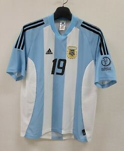 2002 ARGENTINA Home No.19 CRESPO S/S 02 WorldCup Jersey Shirt  02-03 AFA