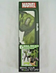 """Marvel Hulk Wall Decals 6 decals 22"""" x 29""""  Decalcomania Augmented Reality NEW"""