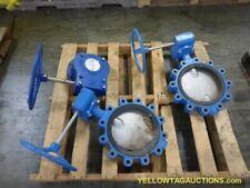 "Lot of (2) 10"" Pratt Industrial Butterfly Valves and (1) Manual valve operator"