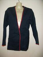 Ladies Navy blue & Red Tunic uniform Size 18 Nurse Cleaner Care Salon Health NEW