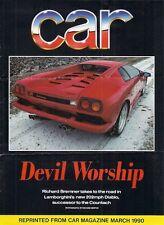 Lamborghini Diablo 1990 UK Market Road Test Brochure Car & Compliments Slip