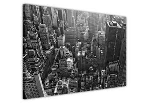 ICONIC NEW YORK CITY AERIAL CANVAS WALL ART PICTURES / PHOTO PRINTS DECORATION