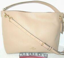 Coach 24947 Clarkson Hobo Bag Polished Pebbled Leather Beechwood Handbag NWT$350