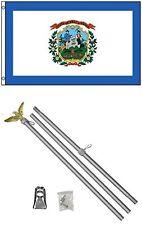 2x3 2'x3' State of West Virginia Flag Aluminum Pole Kit Set