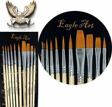 Eagle Art Artist Pointed-Round Paintbrush Set | 10 Pieces Round Pointed Tip for