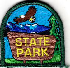 """""""STATE PARK"""" -  IRON ON EMBROIDERED PATCH - NATURE -  FUN, TRIP - VACATION"""