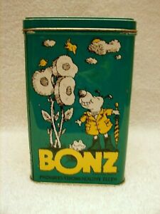1998 Ralston Purina Company Bonz Dog Snack Green Metal Tin