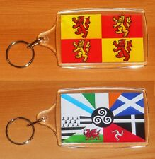 Owain Glyndwr Flag And Celtic Nations Large Double Sided Key Ring Chain