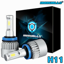 IRONWALLS H11 153000LM LED Headlight Kits Bulbs H9 H8 6000K VS HID 35W 55W Fog
