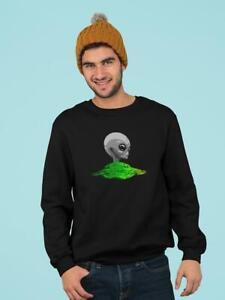 Green Ufo Alien Head Men's Sweatshirt -Image by Shutterstock