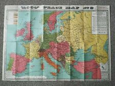 """Vintage """"ACCO"""" PEACE MAP No 2 - The New Europe 1915"""