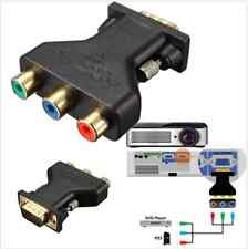 3 RCA RGB Video female to hd15-pin VGA Component Video Adattatore Jack