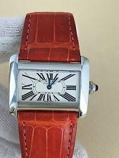 Cartier Tank Divan Large Watch ref.2599 Steel Catier Divan Watch Beautiful Watch