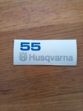 non-OEM Husqvarna 55  TOP COVER sticker decal