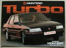 MG MONTEGO TURBO Car Sales Brochure c1985 #3710