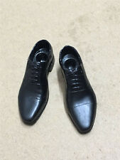 """1/6 Scale Male Man Leather Shoes Black Pointed Shoes For 12"""" Man Figure Body"""
