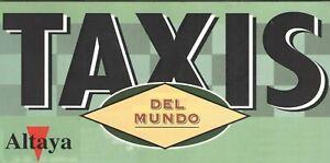 Altaya 2 tomos COMPLETO Taxis del Mundo España 800 PAGS 60 Fascículos