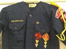 Vintage CUB SCOUT Uniform Shirt 1950s-60s Wolf Bear Detroit Council BSA Scouting