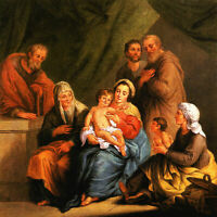"""high quality oil painting 100% handpainted on canvas """" Holy Family"""""""