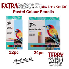 12/24pc Pastel Pencils Colour Soft Drawing Sketching Mont Marte Art Craft Supply