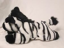 Zebra Snuggie Stuffed Animal 11 x 8 Black White Bead Eyes Bottle holder
