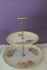 JAMES KENT OLD FOLEY 2-TIER TIDBIT TRAY WITH ROSES
