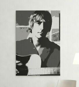 PAUL WELLER Canvas Print Portrait 60cmx40cm MOD Music Icon Wall Art The Jam Rock