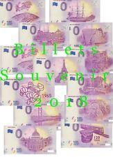 Billets souvenirs zero 0 euro 2018